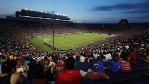 Over 40,000 packed in to watch the European sides in action