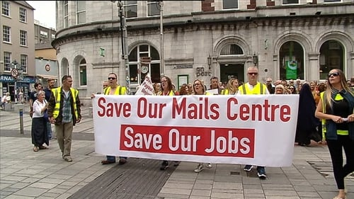 The workers say they want An Post to convert the Cork Mail Centre from sorting letter to parcels