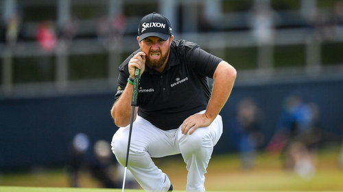 Shane Lowry is leading at The Open Championship