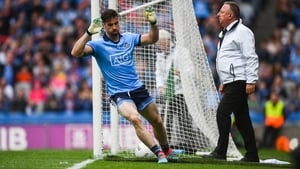 Michael Darragh Macauley scores Dublin's second goal against Roscommon at Croke Park