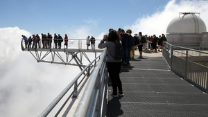 Tourists at the Pic du Midi Bigorre and astronomical observatory in La Mongie, France. Photo: Pascal Pavani/AFP/Getty Images