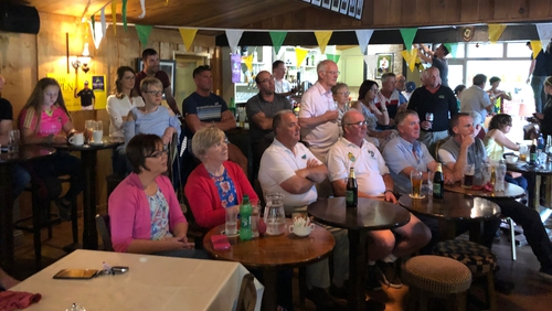 Shane Lowry fans gathered to watch the final round at Esker Hills
