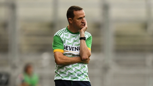 Meath manager Andy McEntee looks on during his team's defeat to Mayo