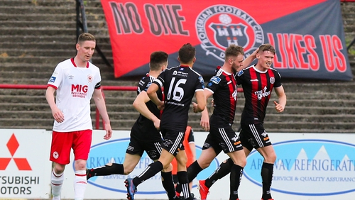 Ryan Swan was the key man for Bohemians this afternoon