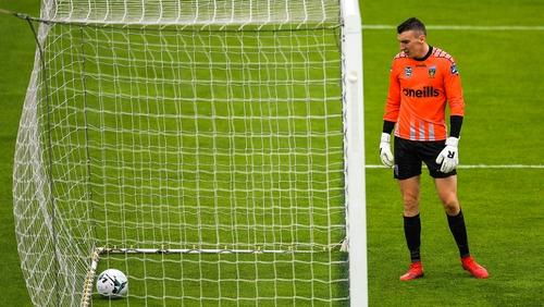 UCD goalkeeper Gavin Sheridan was beaten seven times against Shamrock Rovers