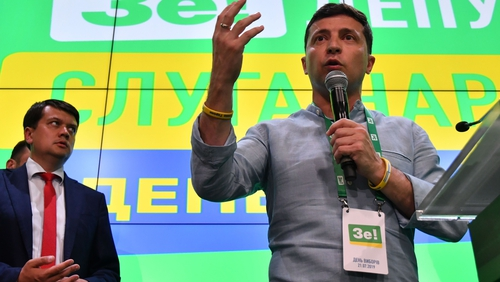 Zelensky's Servant of the People party took 43.9% of the vote in today's election