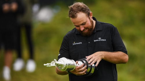 Shane Lowry cradles the Claret Jug in July