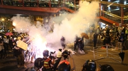 Hong Kong police have defended the lack of arrests in last night's protests