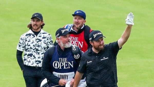 Shane Lowry taking the plaudits at Royal Portrush