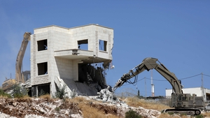 Israel said the ten apartment buildings had been built illegally and posed a security risk to Israeli armed forces