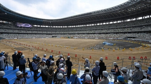 A view of the main Olympic 2020 Stadium in Tokyo