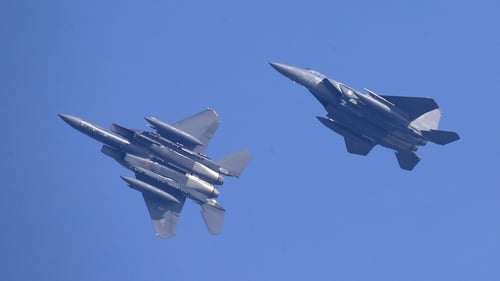 South Korea scrambled F-15 fighter jets in response to the intrusions (File pic)