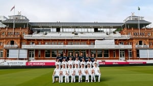 Ireland squad and backroom staff photographed at Lords