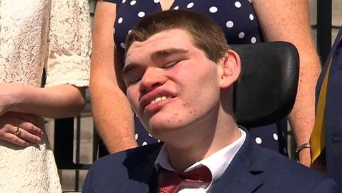 Sam Forde suffered severe brain damage