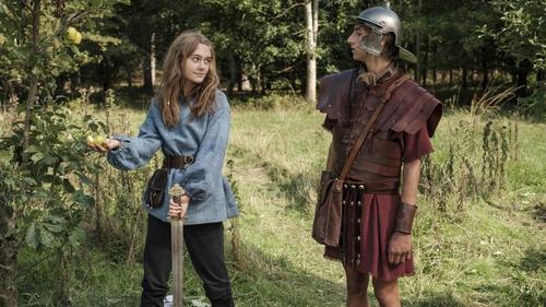 Emilia Jones and Sebastian Croft in Horrible Histories: The Movie - Rotten Romans