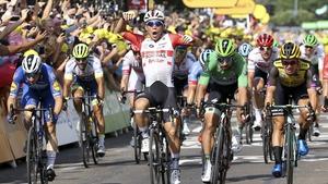 Australian Caleb Ewan wins today's flat stage