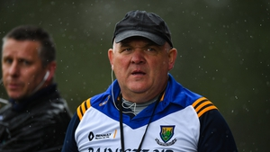 John Evans during his final game in charge against Leitrim