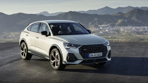Audi's new Q3 Sportback, with coupe styling towards the rear.