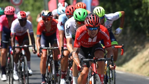 Nicolas Roche during today's stage