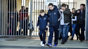 Michael O'Brien arrives at Wexford Park with Davy Fitzgerald