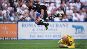 Dundalk played out a 1-1 draw against Qarabag