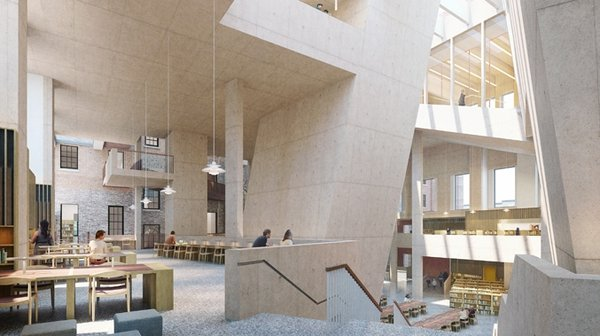 An artist's impression of the proposed library on Parnell Square
