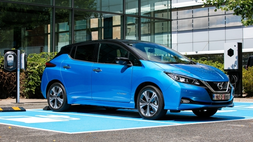 Nissan says the new bigger Leaf battery has a 25 per cent increase in energy.