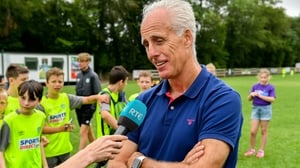 Mick McCarthy speaking to RTÉ Sport