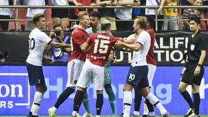 United won a tense game in China