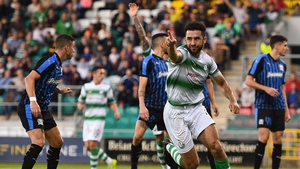 Lopes celebrates his winner at Tallaght