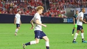 Sepp van den Berg saw some action at Yankee Stadium