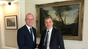 Simon Coveney and Julian Smith pictured at a meeting earlier this year