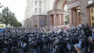 The protests come ahead of city council elections in September