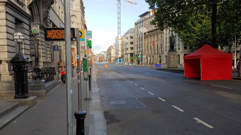 Traffic diversions are in place for buses and cars but the Luas service will operate as normal (Pic: Stephen Hanley)