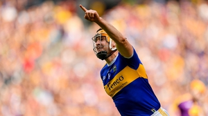 Seamus Callanan celebrates scoring a goal against Wexford