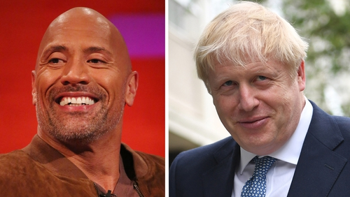 Dwayne Johnson joked that he and Boris Johnson are cousins