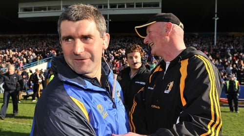 Tipperary manager Liam Sheedy and Kilkenny manager Brian Cody