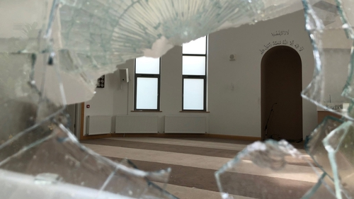 Substantial damage was caused to the community mosque