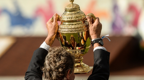 A view of the Aga Khan trophy