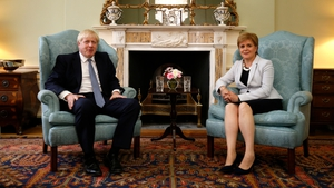 British Prime Minister Boris Johnson met Scottish First Minister Nicola Sturgeon in Edinburgh today