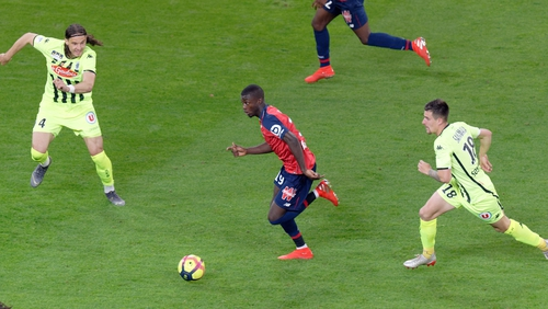 Nicolas Pepe in action for Lille in May