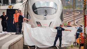The man pushed the boy under the train at Frankfurt main station