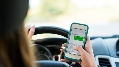 Most respondents said other drivers' behaviour was a bigger distraction