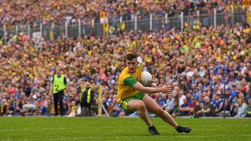 McBrearty in action in Donegal's Ulster final win over Cavan