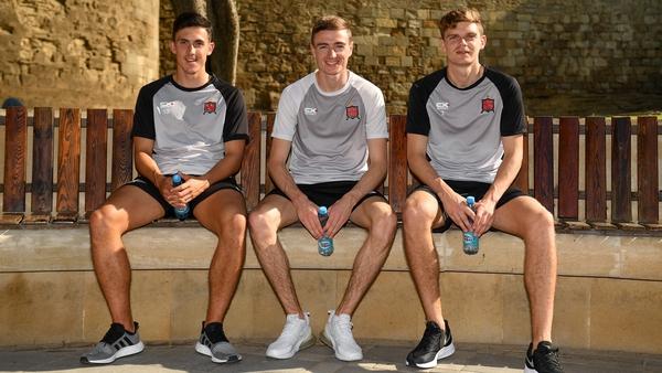 Dundalk trio (L to R) Jamie McGrath, Daniel Kelly and Seán Gannon in Baku ahead of tonight's game against Qarabag