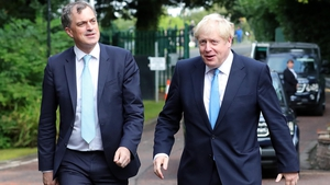 Northern Ireland Secretary Julian Smith meets British PM Boris Johnson at Stormont