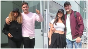 Smiles all round as the Love Island finalists arrive in London