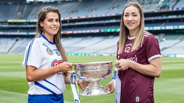 Waterford's Niamh Rockett and Caitriona Cormican of Galway
