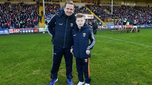 Davy Fitzgerald and Michael O'Brien on the pitch before the 17 February 2019 Allianz Hurling League Division 1A Round 3 match between Wexford and Tipperary at Innovate Wexford Park. Image: Sportsfile