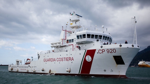 Italy refused to let the migrants disembark from the Gregoretti coastguard vessel